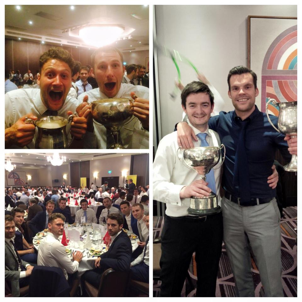 3s collect their league and cup double at the SAL Dinner  '14/'15.